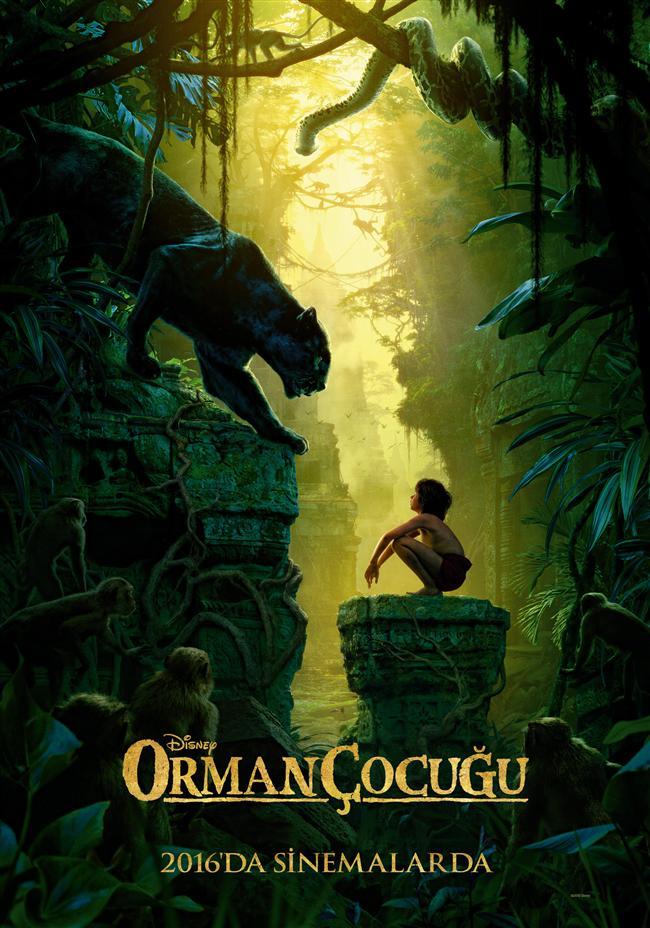 """Orman Çocuğu  Ailesini kaybeden bir erkek çocuk vahşi ormanın derinliklerinde bir ayı, bir siyah panter ve bir kurt sürüsü tarafından büyütülür. Bagheera, Mowgli'ye bu macerada akıl hocalığı yapacaktır. Canlı-aksiyon ve epik türündeki bu hikayede, kurtlar tarafından yetiştirilen Mowgli evi bildiği tek yeri terketmek zorunda kalınca, hem kendisini hem dış dünyayı keşfetmek için yeni bir arayışa çıkacaktır.   Rudyard Kipling'in klasik çocuk romanından uyarlanan filmin yönetmenliğini Jon Favreau sırtlarken uyarlama senaryo ise Justin Marks'a ait. Disney tarafından hayata geçirilen filmin orijinal seslendirme kadrosunda ise Ben Kingsley ve Neel Sethi isimleri başı çekerken kadroda onlara Scarlett Johansson, Idris Elba, Bill Murray, Christopher Walken, Lupita Nyong'o ve Giancarlo Esposito  isimleri yer alıyor.  <a href=  http://foto.mahmure.com/yasam/dunya-bu-filmleri-konusuyor_40496 style=""""color:red; font:bold 11pt arial; text-decoration:none;""""  target=""""_blank""""> Dünya Bu Filmleri Konuşuyor!"""