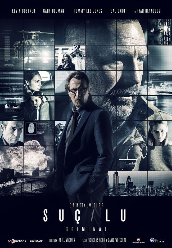 Suçlu  Görevden alınmış bir CIA ajanının hatıraları ve yetenekleri, neler yapabileceği kestirelemeyen tehlikeli bir adamın zihninine aktarılır. Fakat zihnine aktarılan adamın duyguları kötü adamın fikirlerini değiştirmeye başlar. Yönetmenliğini Ariel Vromen'in üstlendiği filmin oyuncu kadrosunda Ryan Reynolds, Gary Oldman, Kevin Costner, Tommy Lee Jones, Gal Gadot ve Alice Eve yer alıyor.  1991 yılında JFK filminde birlikte rol alan Kevin Costner, Gary Oldman ve Tommy Lee Jones yeniden bir arada.