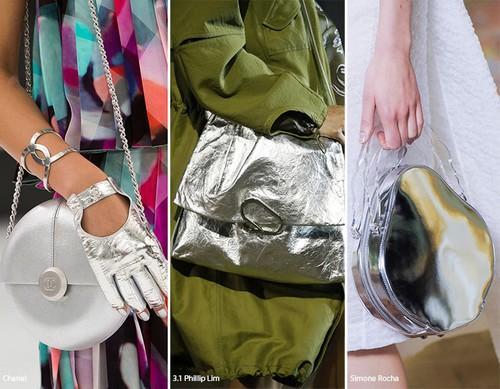 Metalik renkli çantalar