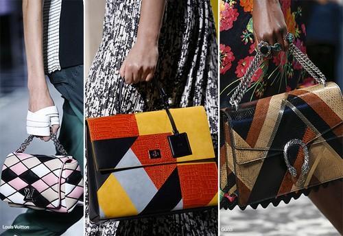 Geometrik desenli çantalar