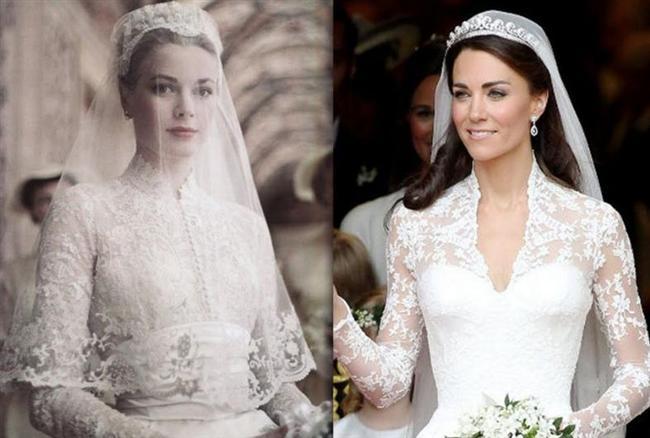 Kate Middleton, gelinliği içinde bir dönemin zarafet kraliçesi Grace Kelly'ye benzetilmişti.