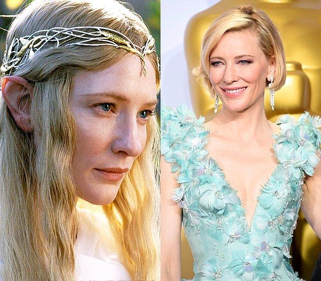 Galadriel: Cate Blanchett  Fotoğraf 28 Şubat 2016'dan, Cate Blanchett şuan 46 yaşında.