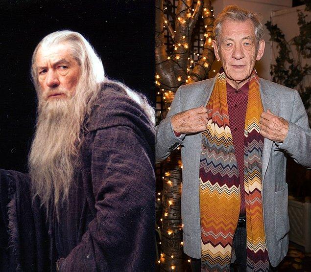 Gandalf: Ian McKellen  Fotoğraf 3 Aralık 2016'dan, Ian McKellen şuan 76 yaşında.