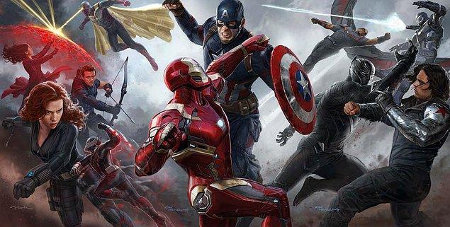 Captain America: Civil War (6 Mayıs 2016)  Marvel alemi için sivil savaş alarmı. Süper kahramanların kimliklerinin akıbeti ne olacak? Captain America: Civil War, süper kahramanları, öykü evreninin en öenmli konusunda karşı karşıya getiriyor. Chris Evans'ın dördüncü defa Captain America kostümünü giyeceği filmde, yönetmen koltuğuna yeniden Russo Kardeşler oturuyor!