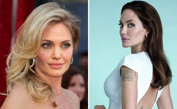 Angelina Jolie  Bu kadını hiçbir saç rengi kötü gösteremez.