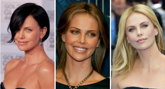 Charlize Theron  Genelde sarışın ve kısa saçlı haline aşinayız ama belki diğer renkleri daha çok yakıştıranlar olabilir.