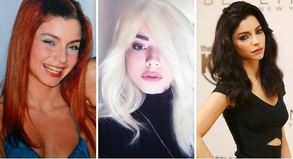 Merve Boluğur  Birbirinden çok bağımsız üç saç rengi.
