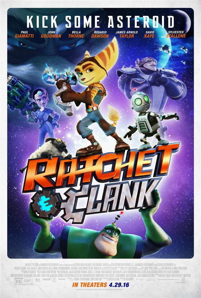 Ratchet & Clank  Koca kulaklı Ratchet her zaman burnu havada bir Qwark'ın Galaktik Uzay Muhafızı olmayı istemiştir. Ratchet uzay gemisi garajını arkasında bırakmak için olan son şansın, Qwark'ın takım seçmelerine katılmak olduğunu düşünür. Ancak Qwark, Ratchet'ın bir kahraman olduğunu düşünmez. Bu sırada galaksinin diğer ucunda, entrikacı kötü adam Drek, Tenemule gezegenini yeni silahı Deplanetizer ile tek atışta yok etmiştir. O gece Ratchet, Drek'in adamlarından kaçan, kısa devre yapmış robot Clank tarafından uyandırılır. Clank, Muhafızların ve güneş sisteminin sonunu getirecek olan Drek'in yaptıklarını anlatır. Onu kim durduracak? Milyonların hayatı, kendi egosuyla kör olmuş Qwark, çok bilmiş Ratchet ve onun güvenilir metal yoldaşı Clank'in ellerinde...  Playstation 2'nin sevilen video oyunlarından Ratchet & Clank serisinden ilk oyunun sinema uyarlaması olan filmin yönetmen koltuğunda Kevin Munroeve Jericca Cleland oturuyor.