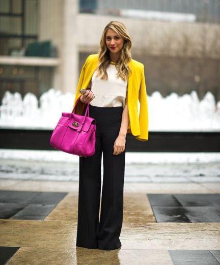 Siyah Bol Kesim Bayan Pantolon Modelleri