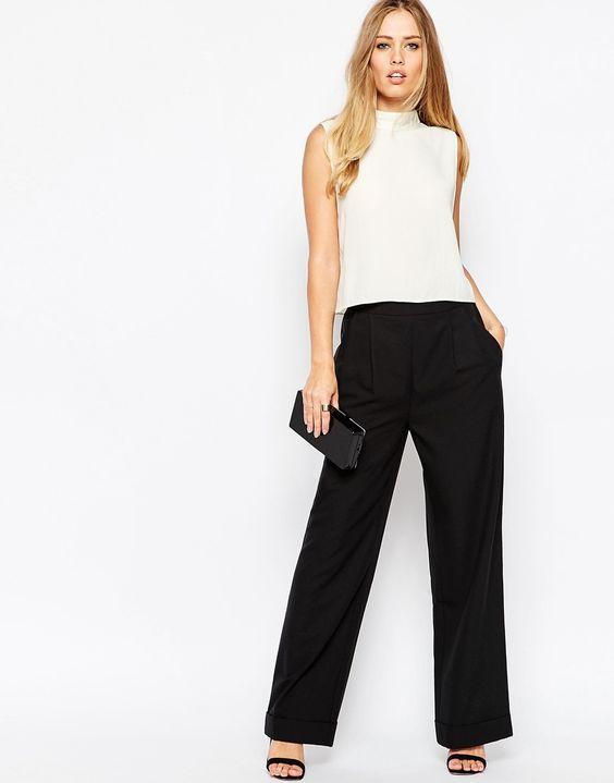 Bol Paça Pantolon Modelleri ve Kombinleri