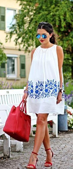En Tatlı Diz Üstü Elbise Modelleri - 16