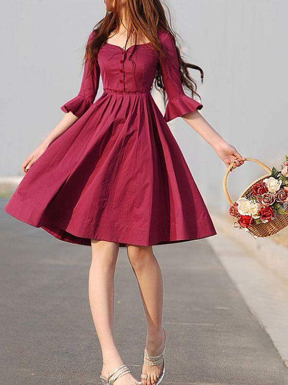 En Tatlı Diz Üstü Elbise Modelleri - 17