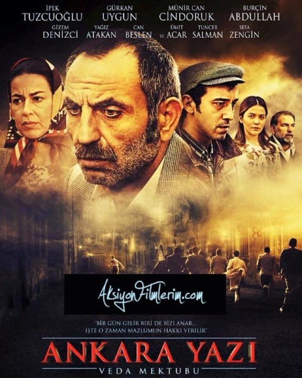 ANKARA YAZI: VEDA MEKTUBU   Yönetmenliğini Kemal Uzun'un yaptığı 'Ankara Yazı-Veda Mektubu'nda başrolleri Gürkan Uygun, İpek Tuzcuoğlu, Münir Can Cindoruk, Burçin Abdullah, Ümit Acar, Tuncer Salman ve Sefa Zengin paylaşırken, filmin yapımcılığını Galip Güner ile Elin Ecealp üstleniyor. Film 12 Eylül Darbesi'nde Mustafa Pehlivanoğlu'nun idam edilmesini ve ailesinin yaşadıklarını konu ediniyor.