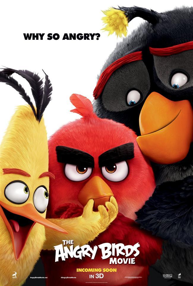 The Angry Birds Movie  Sevilen bilgisayar oyunundan beyazperdeye uyarlanan Angry Birds filmi,nimasyon departmanlarının iki gedikli ismi Clay Kaytis ve Fergak Reilly ikilisinin ilk yönetmenlik deneyimi olacak. Filmin senaryosuna ise Simpsonlar başta olmak üzere pek çok animasyon projesinde kalem oynatmış olan Jon Vitti imza atıyor!