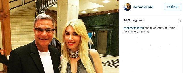 Mehmet Ali Erbil davadan sonra da sosyal medya üzerinden Demet Akalın'a takılmaya devam etti.  Hem de Akalın'ın can düşmanıyla!