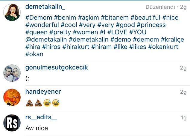 """Geçtiğimiz günlerde, Hande Yener'in Hira'nın fotoğrafının altına gönderdiği """"bok"""" emojisi ise bu düşmanlığı taçlandırdı.  Kırmızı kartlık bu hareketin, sürmekte olan çekişmeyi sıkı bir düşmanlığa çevireceğinden kimim şüphesi olurdu ki?"""