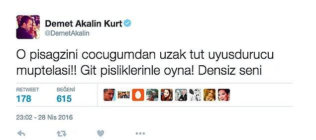 Demet Akalın'a bulaşmak için yürek yemiş olmak gerekir heralde! Akalın, Yener'i Twitter'dan topa tuttu.  Tahminlerimize göre de, bu kavga daha uzuuuun süre bitmez!