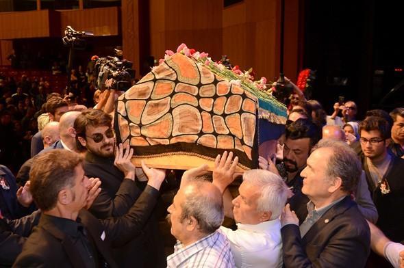 Oya Aydoğan'a veda töreninden kareler