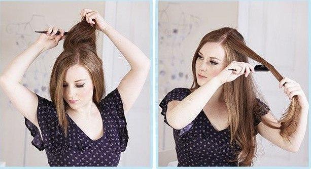 Ayırdığımız saçtan başlayarak, ilk önce saçı tekrar taramalısınız ki sürdüğünüz yağ ve kremler iyice içine işlesin.