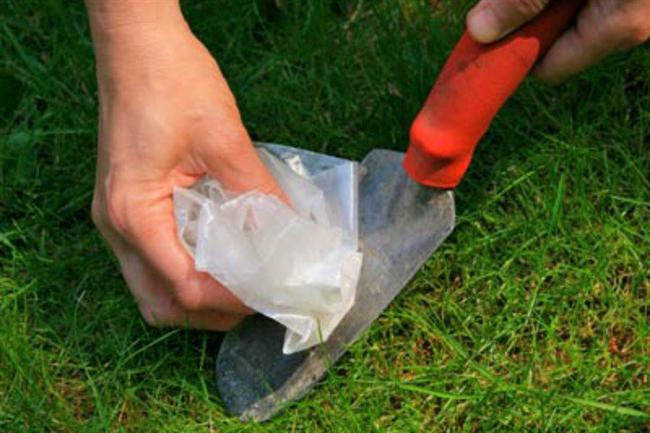 Kürek gibi bahçede kullandığınız araç gereçleri pişirme kağıdıyla kolayca temizleyin, paslanmasını önleyin