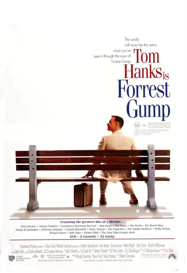 Forrest Gump – Forrest Gump – 1994   Forrest Gump, zeka seviyesi 75 olan bir erkeğin hayatını ele alıyor. Zeka seviyesi nedeni ile devlet okullarına girmekte bile zorlanan Forrest Gump  zamanla akla mantığa uymayan başarılara imza atıyor. Her ne kadar zeka seviyesi düşük olsa da fiziksel olarak son derece sağlam olan Forrest Gump, zamanla gelişen olaylar zincirinde bizi hayal edemeyeceğimiz bir dünyaya götürüyor.