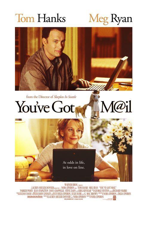 You've Got Mail – Mesajınız Var – 1998   Joe fox kitap marketleri zinciri sahibi bir patrondur.Kathleen Kelly ise işlettiği küçük kitapçı dükkanı ile Fox'un acımasız rekabetine karşı koymaya çalışan küçük bir işletme sahibidir.Kader bu 2 ayrı insanı internette karşı karşıya getirir.