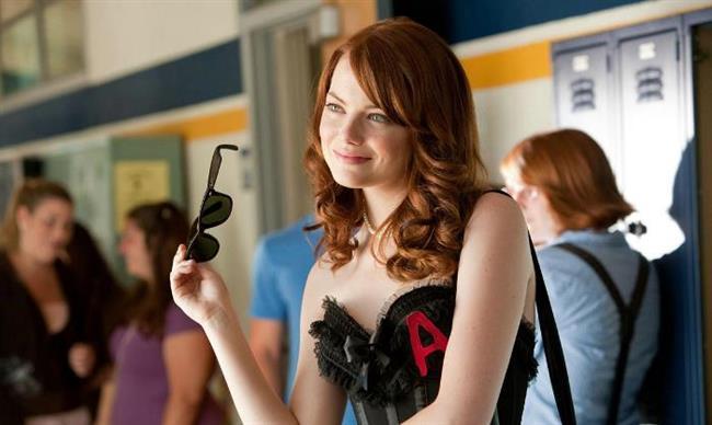 Emma Stone'un Spiderman filmi için kızıla boyattığı saçlarına bayıldık.