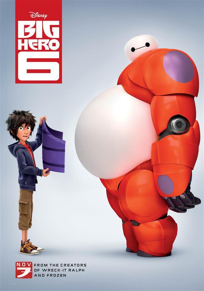 Big Hero 6 – 6 Süper Kahraman – 2014   Hiro Hamada, genç yaşına rağmen robot teknolojisi üzerine keskin bir zekaya sahiptir. Ağabeyi Tadashi ise bu konu üzerine akademik eğitim gören ve benzer alanlarda yetenekli birçok arkadaşa sahip bir üniversite öğrencisidir. Hiro da ağabeyi gibi olmak, onunla aynı sıraları paylaşmak için çok sıkı çalışmasına rağmen kendini çirkin bir komplonun ortasında bulacak ve her şeyi düzeltmek için beklenmedik kişilerden ve hatta robotlardan yardım almak zorunda kalacaktır.