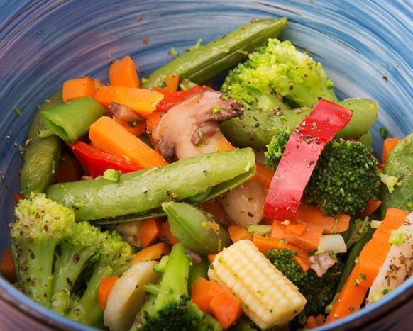 Akşam  - Bir tabak zeytinyağlı taze fasulye veya buharda sebze - 4-5 yemek kaşığı  haşlanmış  pirinç