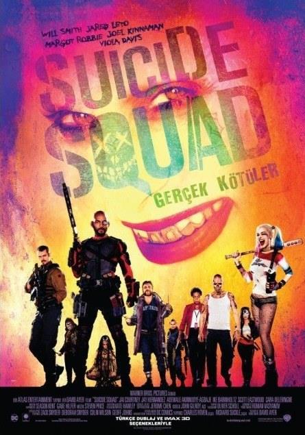 Gerçek Kötüler - Suicide Squad   Amanda Waller'ın (Viola Davis) önderlik ettiği gizli istihbarat servisi ARGUS, mücadele ettiği gizemli bir örgütlenmeyi yenebilmenin tek yolunun hapiste tuttukları tehlikeli suçlulardan bir ekip kurmaktan geçtiğine karar vererek İntihar Timi'ni oluşturur. Kurallar basittir, en ufak bir itaatsizlikte öldürülecekler, ancak görevi başarmaları halinde hapis süreleri azaltılacaktır. Ancak Harley Quinn (Margot Robbie), Deadshot (Will Smith), Killer Croc (Adewale Akinnuoye-Agbaje) ve arkadaşlarının görevi adeta imkansız bir görevdir, çünkü tahmin edemeyecekleri kadar güçlü bir düşmanla karşı karşıya geleceklerdir.