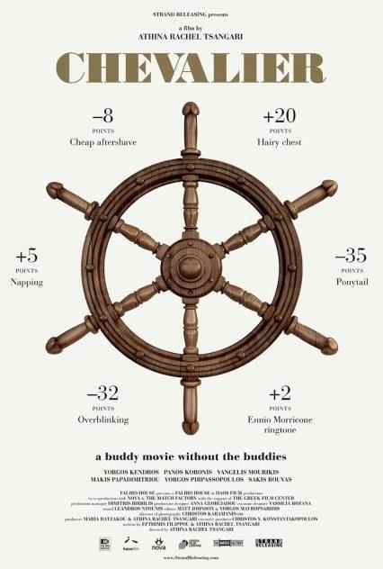 """Şövalye – Chevalier  Lüks bir yatla Ege Denizi'ne balık avına çıkan 6 adam, yolculuklarının sonuna yaklaşmışken yatta yaşanan bir arıza nedeniyle denizin ortasında kalırlar. Sorun çözülene dek gemide """"Şövalye"""" adlı bir oyun oynamaya karar verirler. Bu oyunda yaptıkları her şey karşılaştırılacak ve puanlanacak, sonunda galip gelen, şövalye yüzüğünü takmaya hak kazanacaktır. Zaman öldürmek için başladıkları oyun giderek hepsini etkisi altına alacak, üst düzeyde bir rekabet yaşanacaktır."""