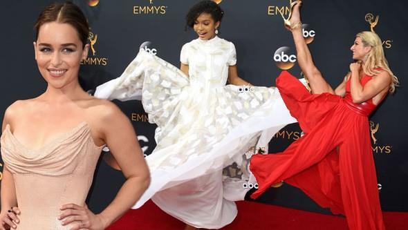Televizyon dünyasının 'Oscarları' olarak bilinen Emmy Ödülleri sahiplerini buldu. Bu yıl 68. kez düzenlenen törene yıldız yağdı! Birbirinden ünlü isimler kırmızı halıda şıklık yarışına girdi. İşte tören öncesi ünlü isimlerin kırmızı halı pozları...