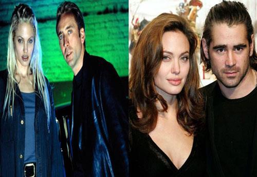 İkinci boşanmasının ardından ipleri iyice gevşeten Angelina, söylentilere göre o yıl, hem Colin Farrel hem de Nicolas Cage ile minik kaçamaklar yaşadı.  Söylentilere göre; Colin Farrel ile olanlar bir kaçamaktan fazlasıydı. Jolie, Farrell'e karşı romantik hisler besliyordu fakat bir yerden sonra aşkına karşılık bulamayınca yoruldu ve Brad Pitt'e yöneldi.   Yine aynı sene, çapkın oyuncunun bir etkinlikte, Gone in 60 Seconds filmindeki rol arkadaşı Nicolas Cage'i öptüğü söyleniyordu.