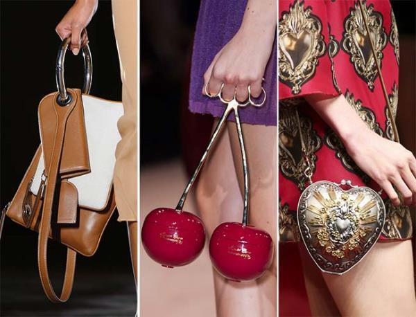 Sıra dışı çantalar  Alışılmışın dışında çanta modelleriyle 2016-2017 sonbahar/kış sezonu cesaretli bayanları bekliyor olacak.