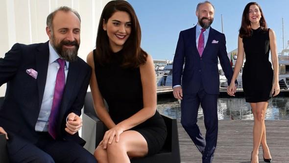 """Fransa'nın Cannes şehrinde düzenlenen dünyanın en prestijli televizyon fuarı MIPCOM'a Kanal D'nin yeni dizisi """"Vatanım Sensin""""de başrolü paylaşan Bergüzar Korel ve Halit Ergenç damga vurdu."""