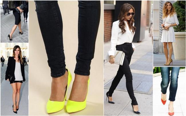 Stiletto   Stiletto ayakkabılar, giydiğiniz her şeyi olduğundan daha zarif gösteriyormuş havası katsa da genellikle şık bir stil oluşturulacaksa tercih ediliyor. Stilettolar yıllar geçse de modası geçmeyecek parçalardır.