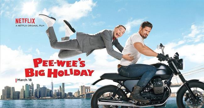 Pee-Wee'nin Muhteşem Tatili – Pee-Wee's Big Holiday   Pee-wee adındaki bir pazarlamacı, hayatında hiçbir şekilde tatil yapmamıştır. Bu durum bir yandan gizemli bir yabancı kadınla rastgelir ve tüm hayatı değişir. Kendi kaderini sonsuza kadar değiştirebilecek bir fırsat bulan Pee-wee, kaderinin peşinden koşup, ilk kez bir tatile çıkacak ve macera dolu anlarla çok farklı anlara şahit olacaktır.
