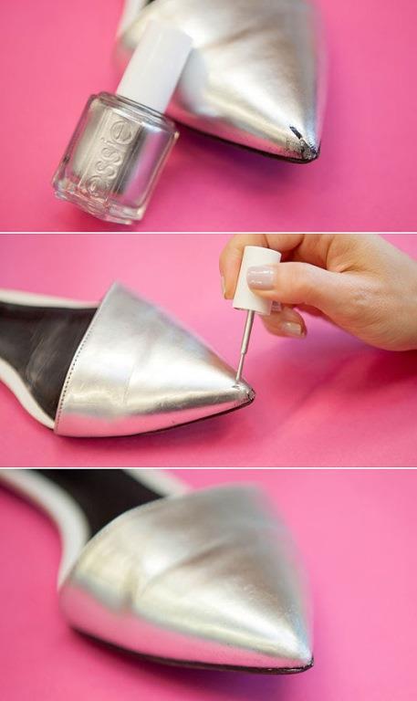 5. Ayakkabılarınızın kusurlarını örtmekte kullanabilirsiniz.