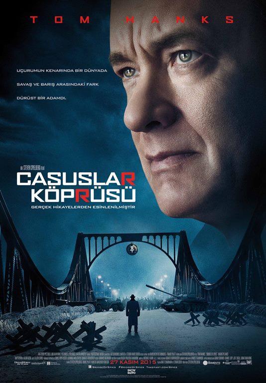 Casuslar Köprüsü - Bridge of Spies  Oscar ödüllü usta yönetmen Steven Spielberg'ün yönettiği, Oscar ödüllü Coen kardeşlerin kaleme aldığı ve yine Oscar ödüllü ünlü oyuncu Tom Hanks'in başrolde oynadığı Casuslar Köprüsü, gerçek bir hikayeden uyarlandı. Soğuk Savaş döneminde Sovyetler tarafından esir alınan bir Amerikalı pilotun kurtarılış öyküsünü izleceğiniz Bridge of Spies filminde gerilim had sahfada olacak..