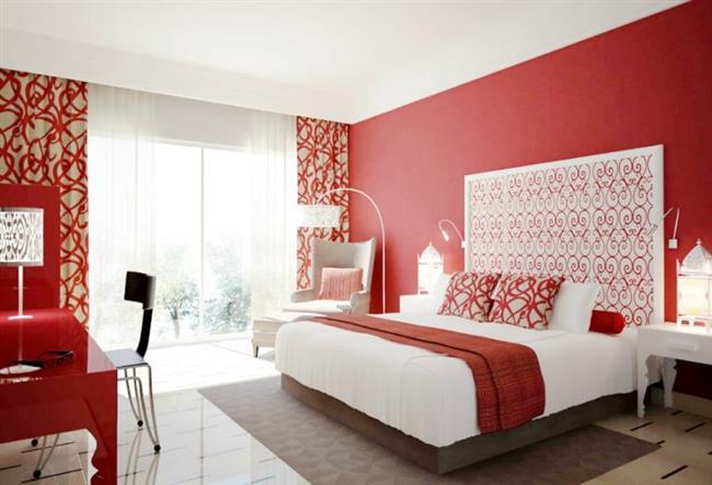 """Tüm kırmızılar aynı değildir. Biraz ışıltı ve sıcaklık için yakut kırmızısı kullanın. Kırmızı odanıza romantizm, sıcaklık, farklılık ve daha fazlasını getirecek!   <a href=  http://mahmure.hurriyet.com.tr/foto/dekorasyon/evinizi-guzellestiren-15-dekorasyon-ornegi_40134  style=""""color:red; font:bold 11pt arial; text-decoration:none;""""  target=""""_blank"""">Evinizi Güzelleştiren 15 Dekorasyon Örneği"""