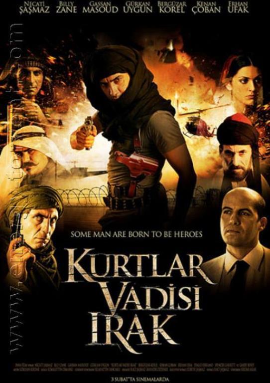 6-Kurtlar Vadisi Irak  Türk yapımı Fetih 1453'ten sonra en pahalı bütçeye sahip (14 milyon $) bir film olup, konusu itibarıyla ABD Temsilciler Meclisinde Dışişleri Bakanı Condoleezza Rice'a Amerikan Hükûmetinin uluslararası tutumu ve dünya tarafından nasıl görüldüğüne dair sözlü soru önergesi verdirten Türkiye'nin 83. kuruluş yıldönümü özel ilk filmdir.  Gösterim Tarihi: 3 Şubat 2006 Seyirci Sayısı: 4.256.566 kişi Gösterim Süresi: 26 hafta