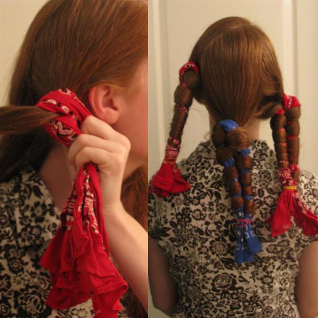 """-Saçlarınızı bandanalara örer gibi sarın ve uçlarını lastik toka ile bağlayın.  -Geceyi bu şekilde geçirin ve sabah saçlarınızı açın.  <a href=  http://mahmure.hurriyet.com.tr/foto/guzellik/evde-yapabileceginiz-12-sac-modeli_41257  style=""""color:red; font:bold 11pt arial; text-decoration:none;""""  target=""""_blank""""> Evde Yapabileceğiniz 12 Saç Modelini Görmek İçin Tıklayınız!"""