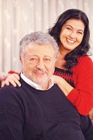 Metin Akpınar ile birlikte Papatyam dizisi için kamera karşısına geçti.