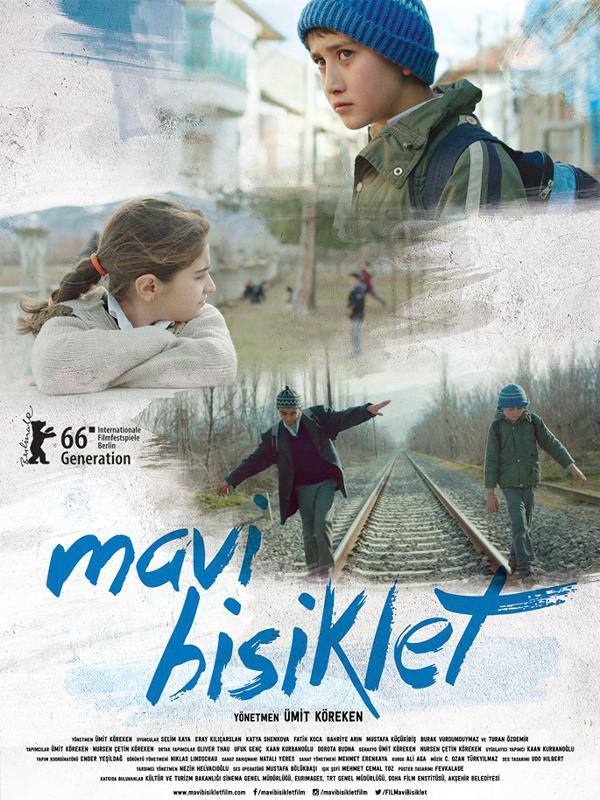 """Mavi Bisiklet   Bir çocuğun, büyüklerin dünyasında karşılaştığı adaletsizliklere kendince çözüm arayışını naif bir anlatımla beyazperdeye taşıyan """"Mavi Bisiklet"""" Ümit Köreken ve Nursen Çetin Köreken'in ilk uzun metrajlı sinema filmi. Filmde, başrolleri paylaşan çocuk oyuncular Selim Kaya, Eray Kılıçarslan ve Bahriye Arın'ın yanı sıra; Mustafa Küçükibiş, Burak Vurdumduymaz, Beren Yiğit, Fatih Koca, Mustafa Şimşek, Nursen Çetin Köreken ve Turan Özdemir rol alıyor."""