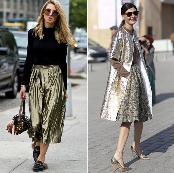 Sezonun trendi olan metalik renkler ile hem sezona ayak uydurabilir hem de oldukça farklı görünebilirsiniz. Peki, metalik renkleri nasıl kullanacağınızı biliyor musunuz?  Çarpıcı metalik renkte bir elbisenizi nötr parçalar ile birleştirip şık olabilir ya da tek bir parçayı metalik seçerek hem farklı hem de stil sahibi olabilirsiniz.