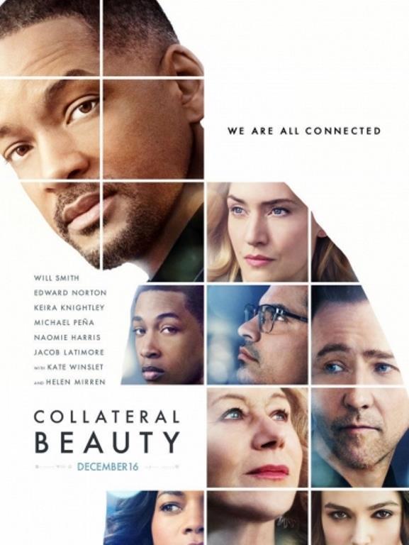 """Gizli Güzellik (Collateral Beauty)    Başarılı reklamcı Howard Inlet (Will Smith) kızını kaybettiği günden sonra hayata küsmüştür. İş arkadaşlarının onu yeniden hayata motive etme çabaları boşa gitmektedir. Sonunda Howard iyice içine kapanarak evrene mektuplar yazmaya başlar, """"Sevgi""""ye, """"Zaman""""a ve """"Ölüm""""e... Bunu öğrenen arkadaşları, Howard'ı yeniden hayata döndürmek için iyi düşünülmüş bir plan yaparlar, bu 3 soyut kavram, ete kemiğe bürünmüş bir şekilde karşısına çıkacak, Howard'a hayatla ilgili yeni bir bakış açısı kazandırmaya çalışacaklardır."""
