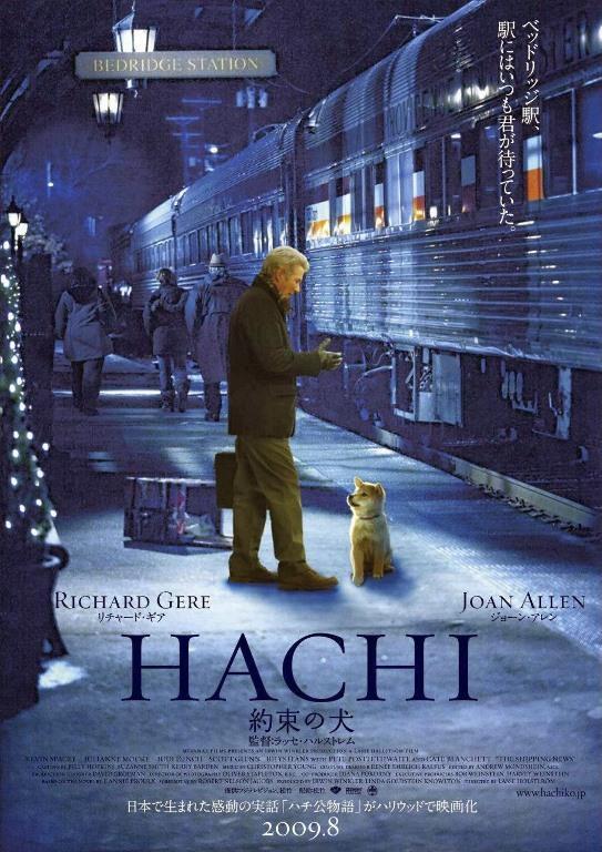 Hachiko Bir Köpeğin Hikayesi    Her gün evinden en yakındaki tren istasyonu olan Tokyo'daki Shibuya İstasyonu'na kadar ve gene istasyondan evine kadar sahibi Prof.Ueno'ya eşlik edip,onu uğurlayan ve karşılayan;Ueno vefat ettikten sonra da istasyonda kendisinin dönüşünü beklemeye devam eden ve şimdi Shibuya İstasyonu'nun önünde bakır bir heykeli bulunan sadık köpek Haçiko'nun gerçek hikayesinden esinlenen bir yapıt.Sahibini özlemle beklemekten vazgeçmeyen Haçi'nin bütün Japon vatandaşları duygulandırdığı meşhur bir eserdir.