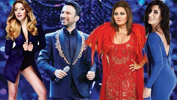 2017 için geri sayım başlarken, ünlü isimlerin konser programları da belli oldu. Yeni yılı sahnede karşılayacak şarkıcılar, birkaç saatlik konser karşılığında astronomik rakamlara anlaşma yaptı.  Kaynak:Hürriyet