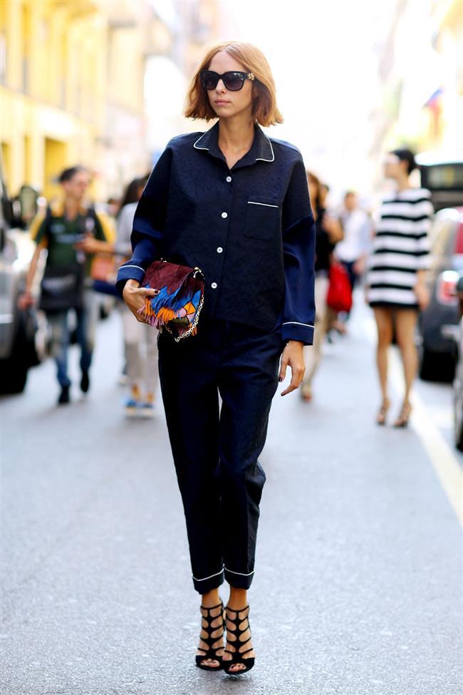 Pijamayı sokağa taşıma gibi bir trend ortaya çıktı. Rahatına düşkün olan kadınların en çok ilgisini çeken trendlerden biri de bu oldu.