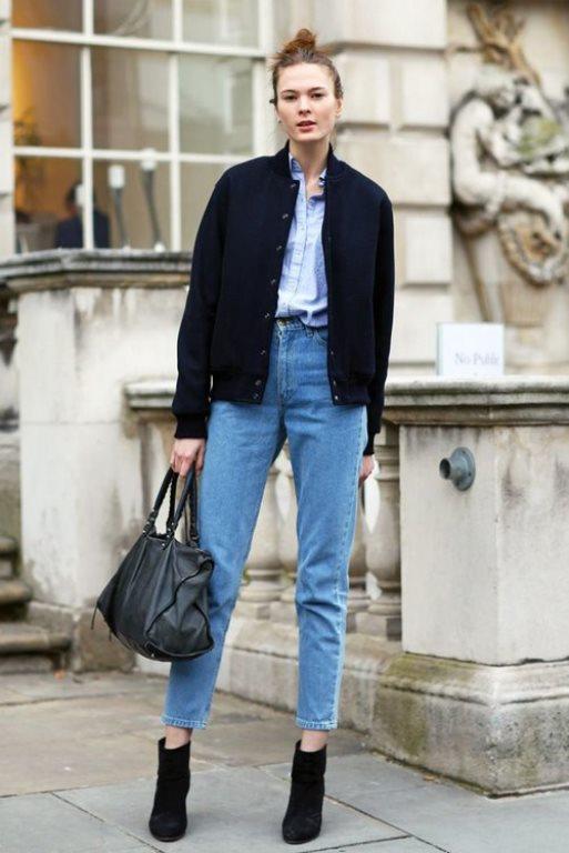 Çok salaş kot pantolonlu bir kış stili. Zıt parçalarla güzel görünmek isteyen bayanlara. Biraz sıra dışı olmak isteyenlere bu kombin şekli.